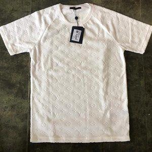 Louis Vuitton Monogram Motif Men Shirt